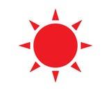 Яркое красное солнце Бесплатная Иллюстрация