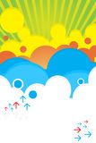 яркое лето плаката цвета Стоковые Фотографии RF