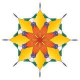 яркое мандала цветка иллюстрация штока