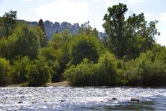 Яркое мглистое на американском реке Стоковое Изображение RF