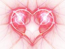 яркое настоящее электрическое сердце Стоковые Изображения