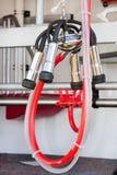 яркое оборудование скотин доя красный трубопровод Стоковое Фото