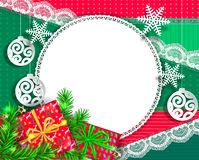 Яркое поздравительное рождество дизайна бесплатная иллюстрация