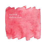 Яркое розовое пятно Абстрактная стильная акварель Стоковые Фото