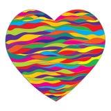 Яркое сердце с контуром волн Стоковые Фотографии RF
