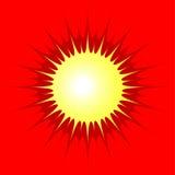 яркое солнце Стоковое Изображение