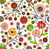 яркое флористической картины безшовное иллюстрация штока