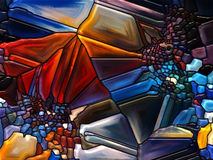 Яркое цветное стекло Стоковое фото RF