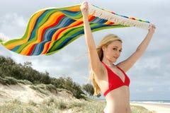 яркое striped полотенце Стоковое Изображение