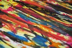 Яркой абстрактной красочной цвета запачканные пастелью, контрасты, предпосылка waxy краски творческая стоковые изображения