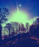 Яркость восхода солнца на зоре Стоковая Фотография