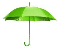 ярко - зеленый зонтик Стоковые Изображения