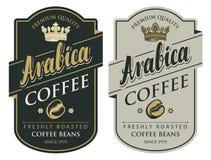 2 ярлыка для кофейных зерен в ретро стиле иллюстрация вектора