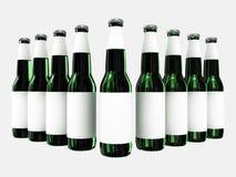 ярлыки бутылок пива пустые Стоковое Фото