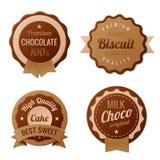 Ярлыки год сбора винограда шоколада бесплатная иллюстрация