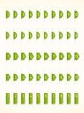 Ярлыки зеленого цвета Стоковое Изображение RF