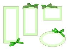 ярлыки зеленого цвета Стоковые Фотографии RF