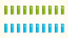 Ярлыки зеленых и сини Стоковые Изображения