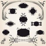 ярлыки каллиграфического собрания исторические Иллюстрация штока