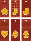 Ярлыки с gingerbread бесплатная иллюстрация