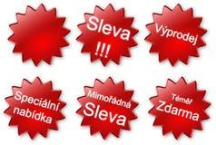 ярлыки чеха дела Стоковое Изображение RF