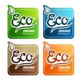 Ярлыки Eco иллюстрация вектора