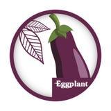 Ярлык баклажана vegetable свежий здоровый иллюстрация вектора