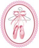 Ярлык ботинок балета Стоковые Изображения
