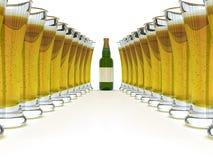 ярлык бутылочного стекла пива пустой Стоковая Фотография