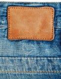 ярлык джинсовой ткани Стоковая Фотография