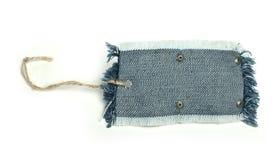 Ярлык джинсовой ткани Стоковое фото RF
