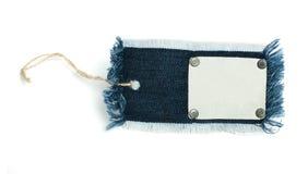 Ярлык джинсовой ткани Стоковая Фотография RF