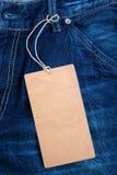 ярлык джинсыов Стоковое Изображение