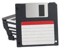 ярлык диска изолированный флапи-диском Стоковые Изображения