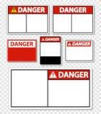 ярлык знака опасности символа на прозрачной предпосылке иллюстрация штока