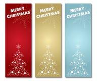 Ярлык знамени веселого рождества вертикальный бесплатная иллюстрация