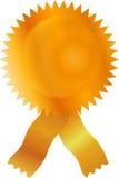 ярлык золота certicate полосы пустой Стоковое Изображение RF