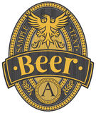 ярлык конструкции пива Стоковая Фотография RF