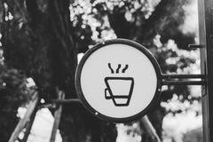 Ярлык кофе ретро винтажный Стоковое Изображение