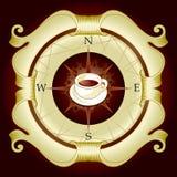 ярлык кофе Стоковое Фото
