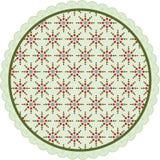 Ярлык круга рождества Стоковое фото RF