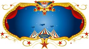 Ярлык ночи цирка Стоковое фото RF