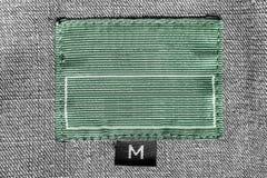 Ярлык одежд ткани Стоковое Изображение