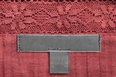 Ярлык одежд ткани Стоковые Фотографии RF