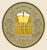 ярлык пива иллюстрация штока