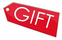 ярлык подарка Стоковое Изображение RF
