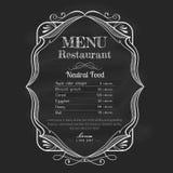 Ярлык рамки меню ресторана классн классного винтажной нарисованный рукой стоковые фото