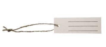 ярлык рамки сделал бумажный шнур Стоковая Фотография RF