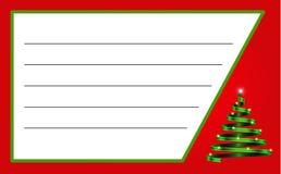 Ярлык рождества с лентой в форме дерева и космос для текста бесплатная иллюстрация