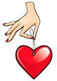 ярлык руки Стоковое Изображение